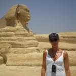 At Sfinx in Egypt