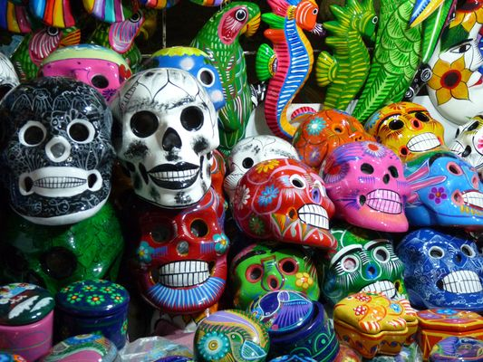 Photo of the week – Colorful Mexican skulls