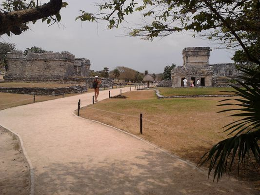 entering the Tulum ruins