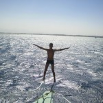 Photo of the week: an Egyptian guy standing on the boat rail