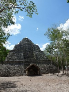 a temple in Coba