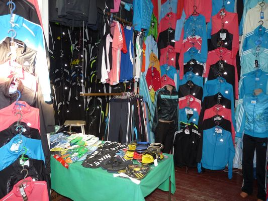female sport clothes in Uzgorod market