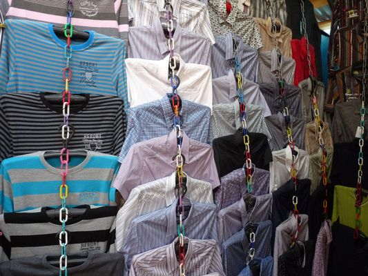 male shirts in Uzgorod market