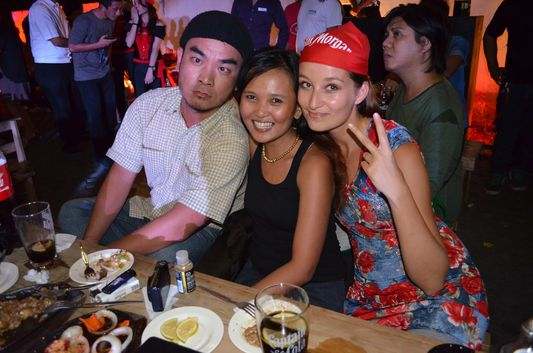 crazy sexy fun traveler with marky and Monette at Captain Morgan Party in Manila