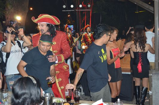 fun and dancing at Captain Morgan party in Manila