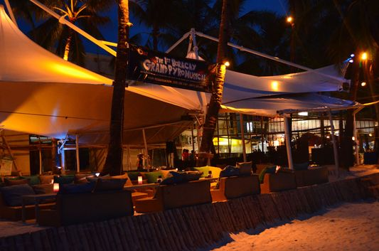 empty beach bars on Boracay island