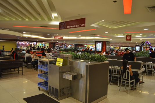 food court in shopping mall SM in Cebu in the Philippines