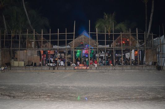 party in Club Paraw disco on Boracay island in the Philippines