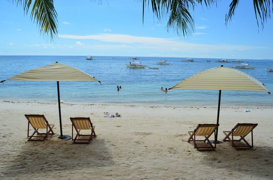 Alona beach in Bohol