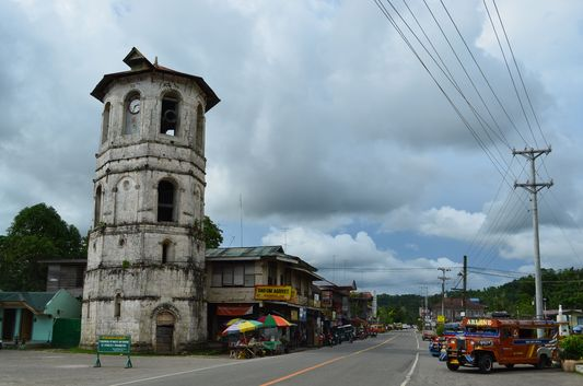 Loboc Bell Tower in Loboc in Bohol