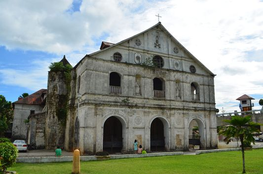 Loboc church from the outside in Bohol