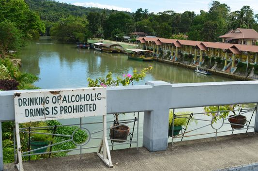 bridge over Loboc river in Bohol
