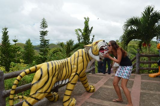 cartoon statues in Sagbayan Peak in Bohol