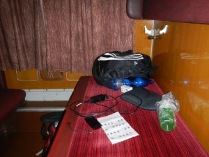 on the night train from Humenne to Prague