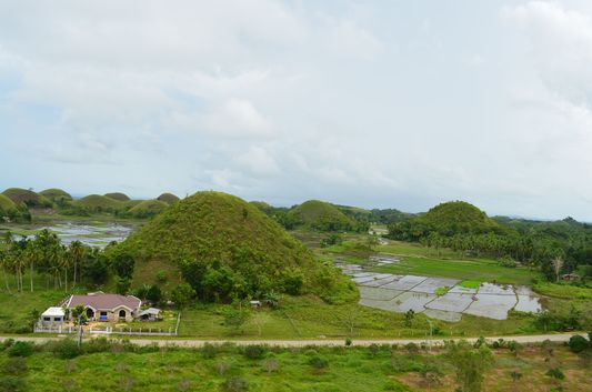 view of Carmen Chocolate Hills from Sagbayan Peak in Bohol