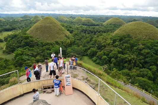 viewpoint of Carmen Chocolate Hills in Bohol
