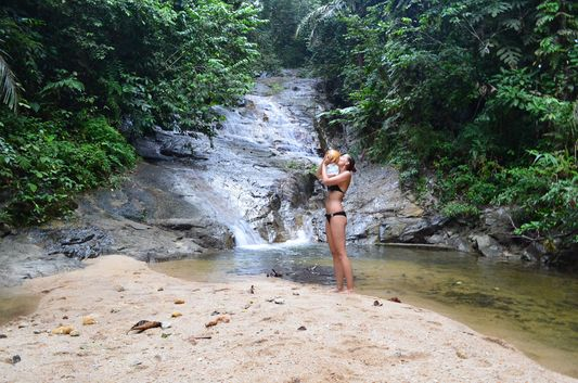 crazy sexy fun traveler drinking fresh coconut in a secret waterfall in Ipoh Teen who identifies herself as Taylor calls for a boycott of Girl Scout ...