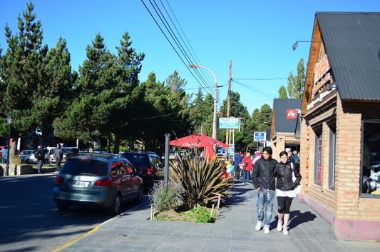 Avenida Libertador de San Martin in El Calafate