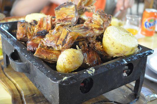 lamb meat in Las Cotorras restaurant