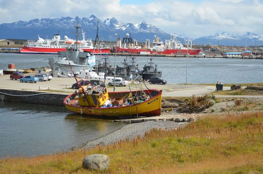port of Ushuaia and the Beagle Channel