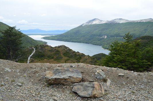 the view of Lago Escondido
