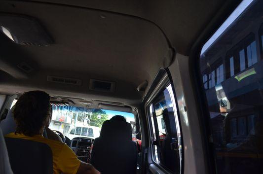 inside Caribe Shuttle van