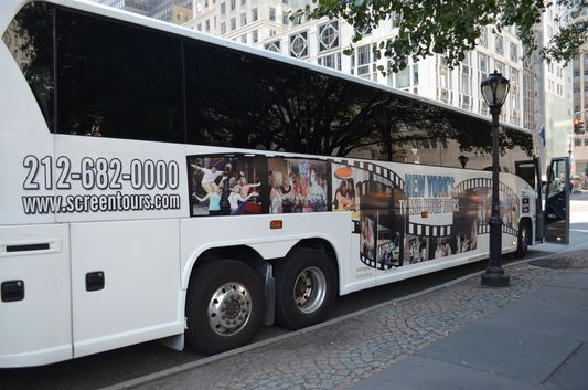 On Location Tours bus in NYC