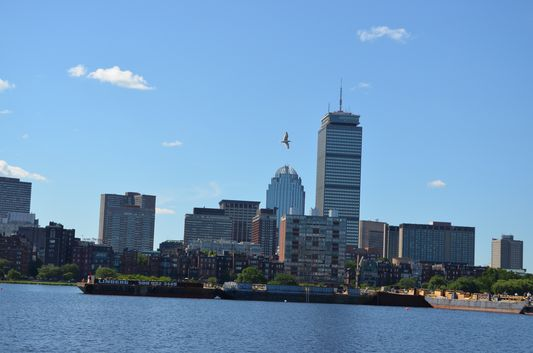 Prudential Tower and other skyscrapers of Boston Financial District