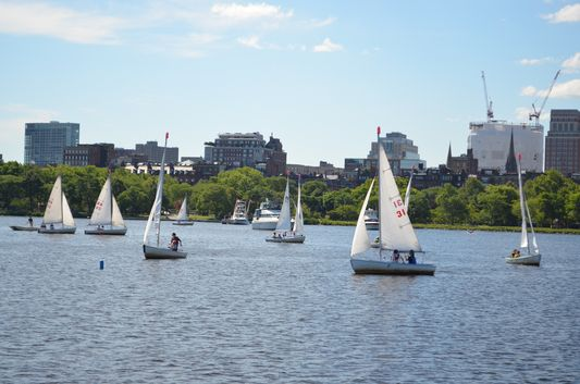 sailing boats in Boston