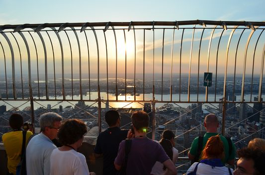 watching the sunset from Empire State Building