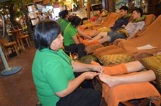a Thai foot massage in Bangkok