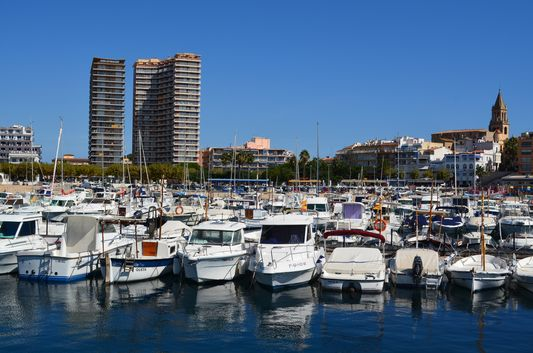 in Palamos port