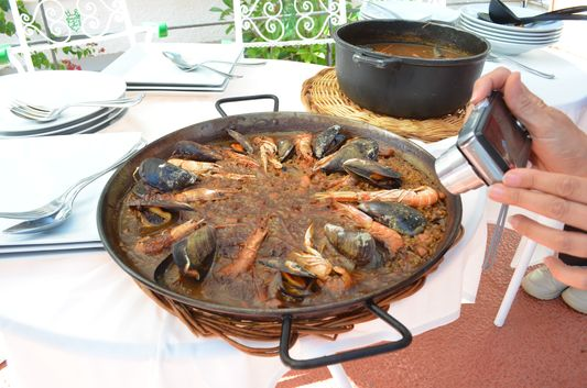 paella and arroz caldoso in Hotel Sant Roc