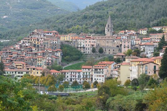 Pigna village seen from Grand Hotel Terme