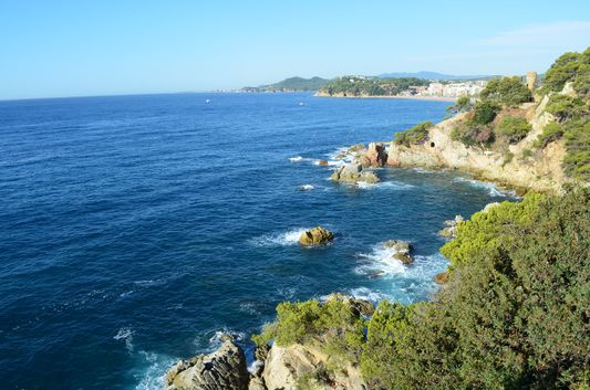hiking Blanes coast