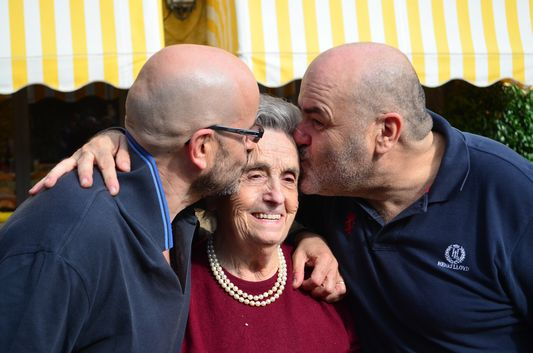 Sacone family - Bruno, Giuseppe and their mother Maria