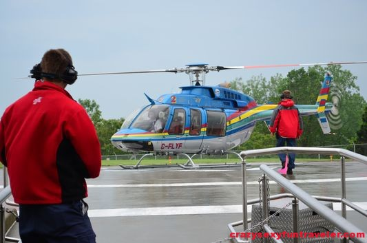 ready to board Niagara Falls helicopter