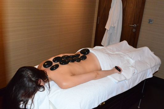 falling asleep during hot stone massage in Sheraton Bratislava