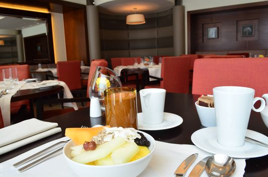 healthy breakfast time in Sheraton Bratislava