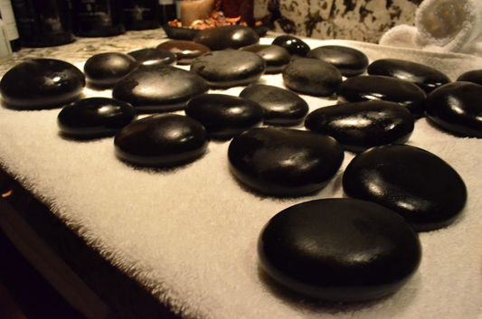 hot stones for hot stone massage in Sheraton Bratislava