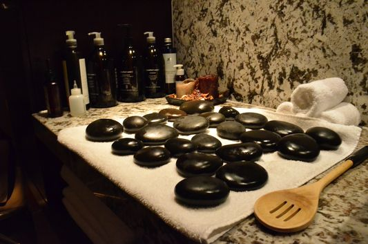ready for hot stone massage in Shine spa Sheraton Bratislava