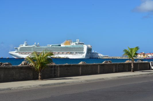 A cruise ship in Port Zante on St. Kitts