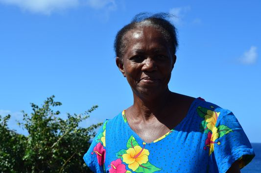 Muriel an older local lady on St. Kitts
