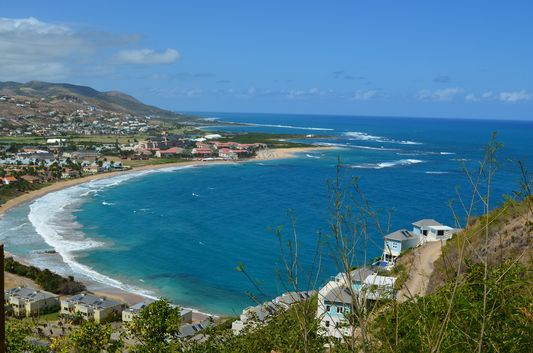 North Frigate Bay on St. Kitts from the viewpoint