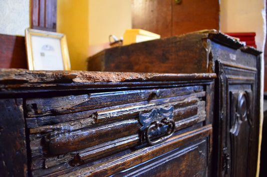 years ago kids used to play with these drawers in Santa Maria church
