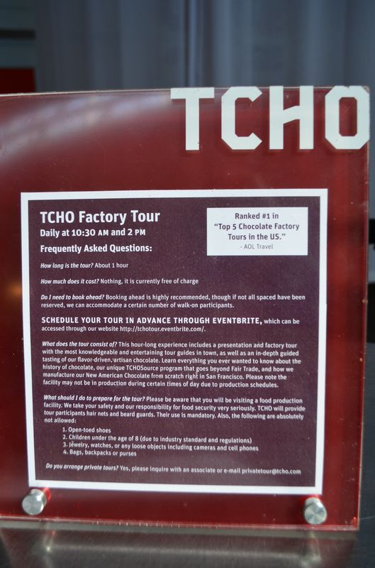 TCHO chocolate tour in San Francisco