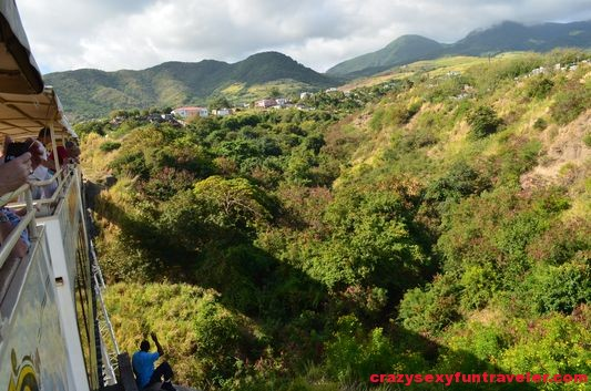 St. Kitts train crossing one of the bridges