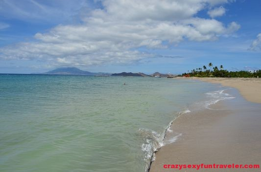 a beautiful beach on Nevis