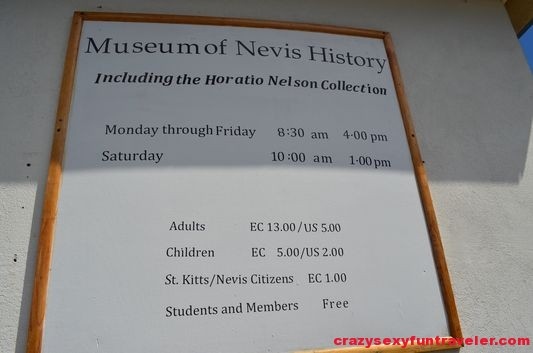 entrance fee to Horatio Nelson Museum