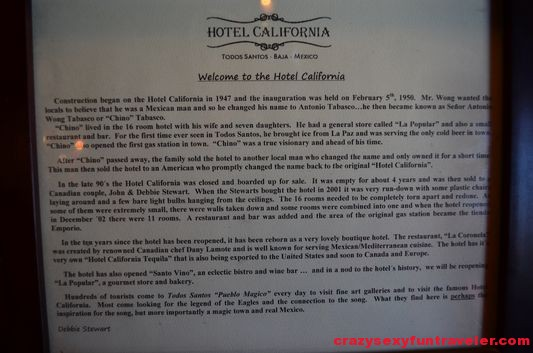 the history of Hotel California